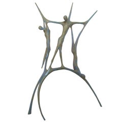 "Carmelo Capello ""Cristo e i Ladroni"" Bronze Sculpture, Signed"
