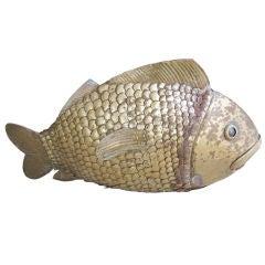 Brass Fish Sculpture by Sergio Bustamante