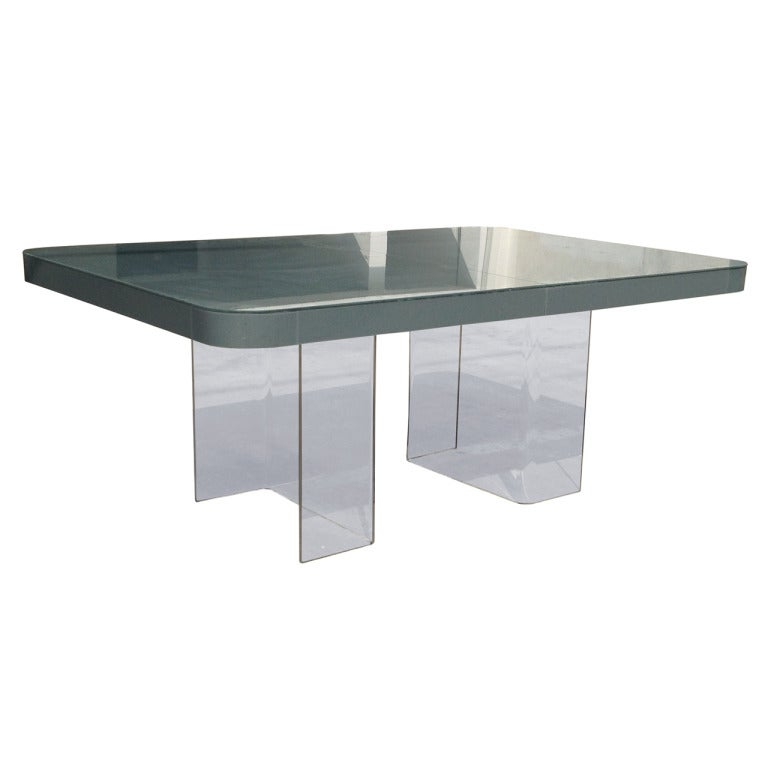 Mid-Century Modern Lucite and Plexiglass Dining Table at 1stdibs