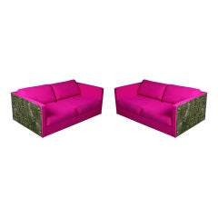 Pair of Adrian Pearsall Brutalist Sofas for Craft Associates