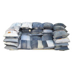 Recycled Levi's Jeans Two-Seat Sofa