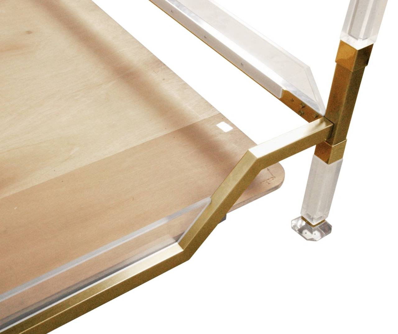 Mid-Century Modern Vintage Charles Hollis Jones Four Poster/King Size Bed in Brass & Lucite For Sale