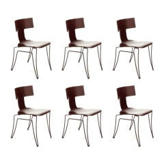 Set of 6 Classic Klismos chairs by John Hutton for Donghia