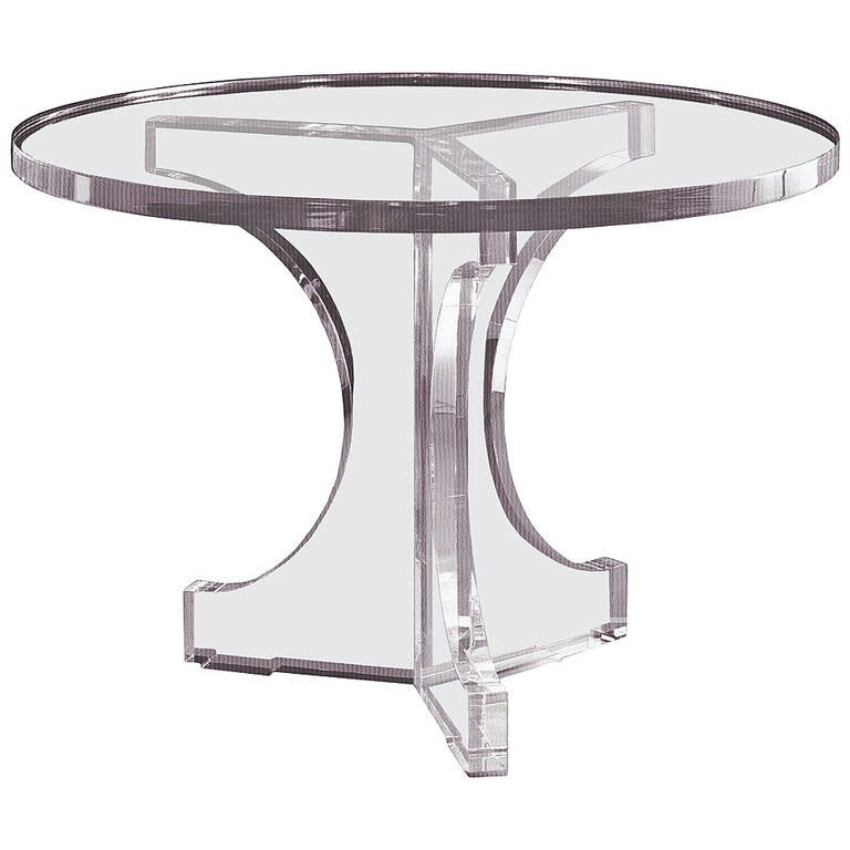 """Charles Hollis Jones Triple Arch Dining Table for the """"Arch"""" Line, Signed For Sale"""
