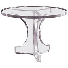 "Charles Hollis Jones Triple Arch Dining Table for the ""Arch"" Line, Signed"