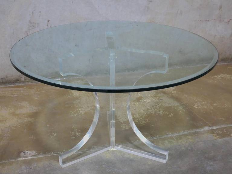 Lucite Charles Hollis Jones Triple Arch Dining Table for the