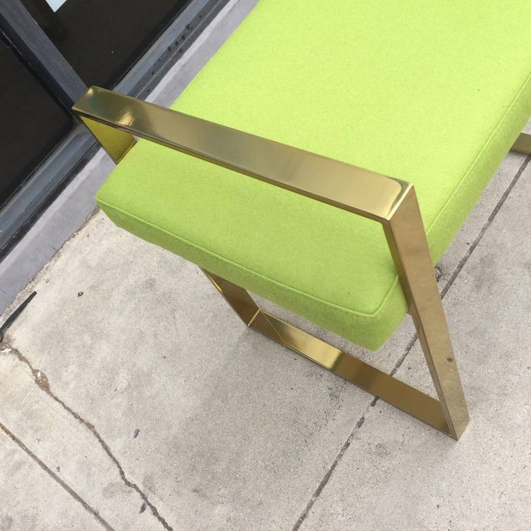 Late 20th Century Pair of Polished Brass Benches by Charles Hollis Jones For Sale