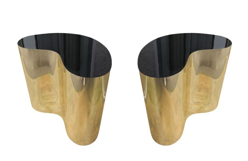 Saarinen Dining Table Black Granite Eero Saarinen Knoll 4 Jpg Pictures  ... of Karl Springer Free-form Brass Pedestals for Dining Table at 1stdibs