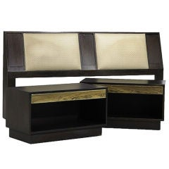 Harvey Probber Nightstands Set in Mahogany Wood