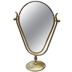 """Charles Hollis Jones """"Faces"""" Vanity Mirror, Signed and Dated"""