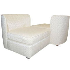 Beautiful Oversized Armless Slipper Chairs With Rounded Backs by Thomasville