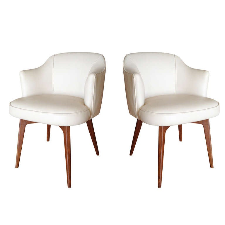 Pair of modern chairs by cain modern for sale at 1stdibs for Contemporary seating