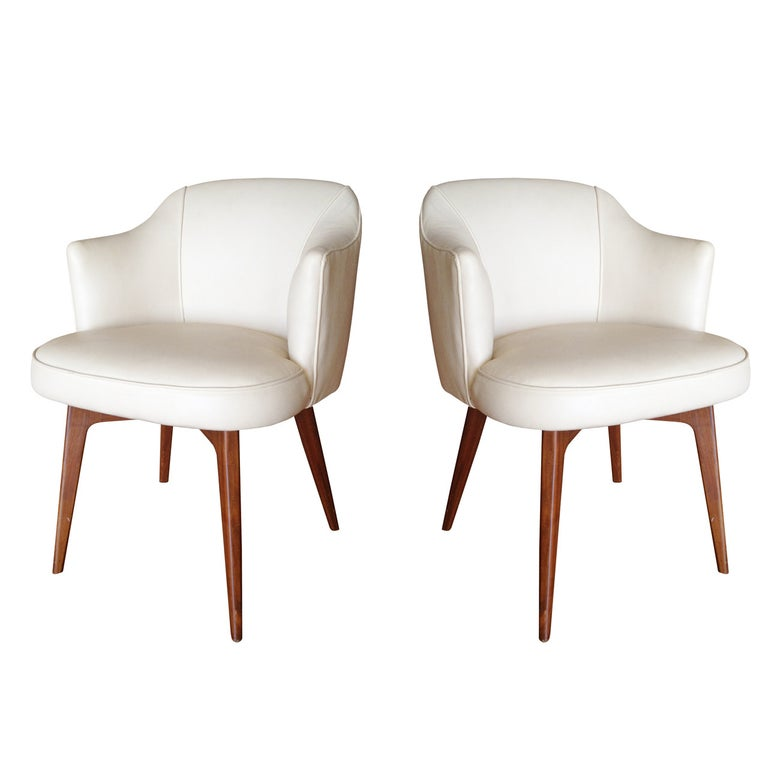 Pair of Modern Chairs by Cain Modern For Sale