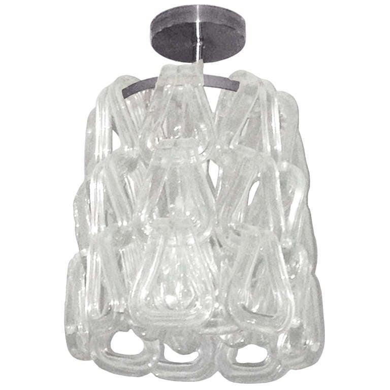 Murano Glass Chandelier by Mazzega, Italy, 1960s For Sale