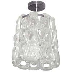 Murano Glass Chandelier by Mazzega, Italy, 1960s