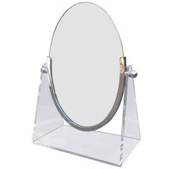 Charles Hollis Jones Vanity Table Mirror with Lucite Base