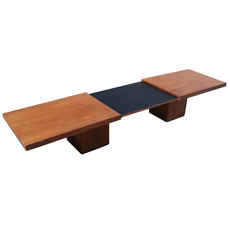 John Keal For Brown And Saltman Expanding Coffee Table Bench At 1stdibs