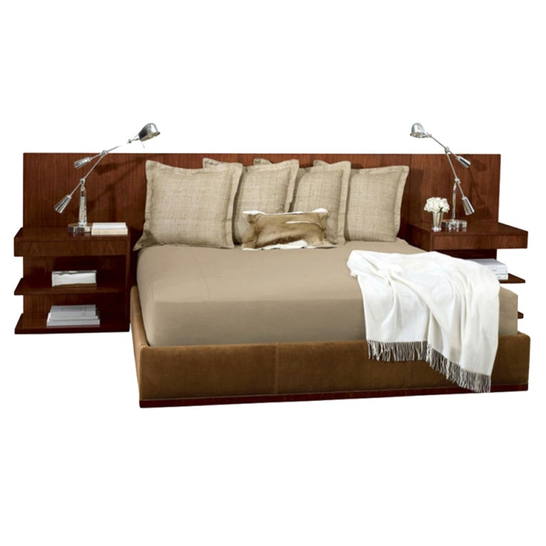 ralph lauren modern hollywood bed and nightstands at 1stdibs