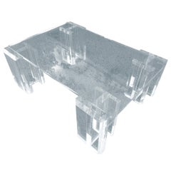 """Charles Hollis Jones """"I Beam"""" Coffee Table, Signed and Dated"""
