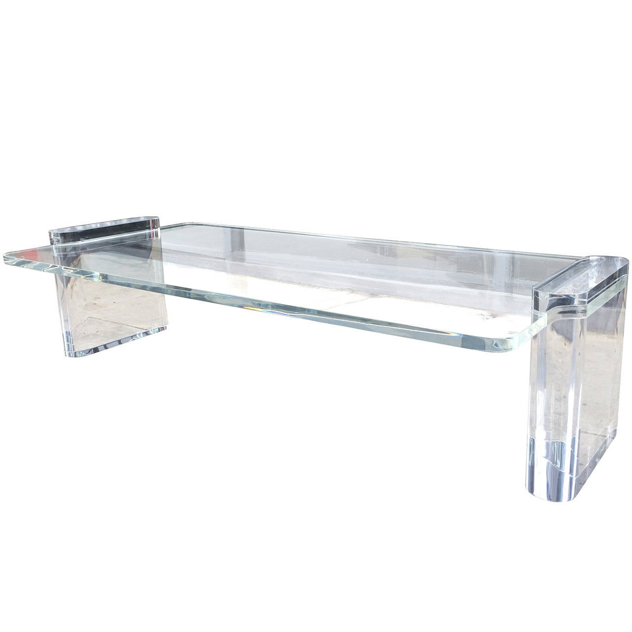 Lucite Coffee Table In The Karl Springer Style At 1stdibs