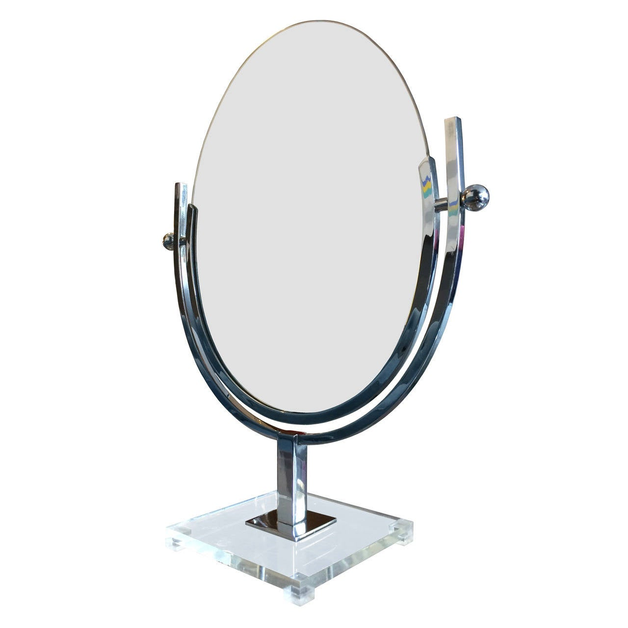 Large Charles Hollis Jones Vanity or Table Double-Sided Mirror