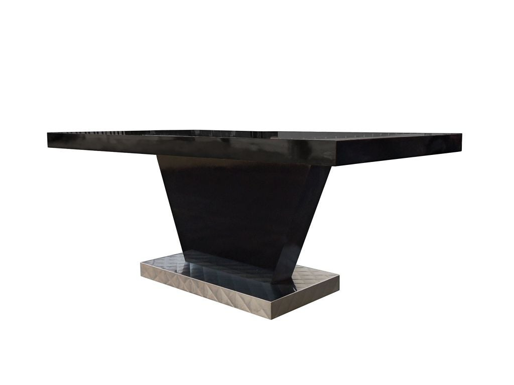 Black Lacquer Dining Table From A Paul Frankl Project At 1stdibs