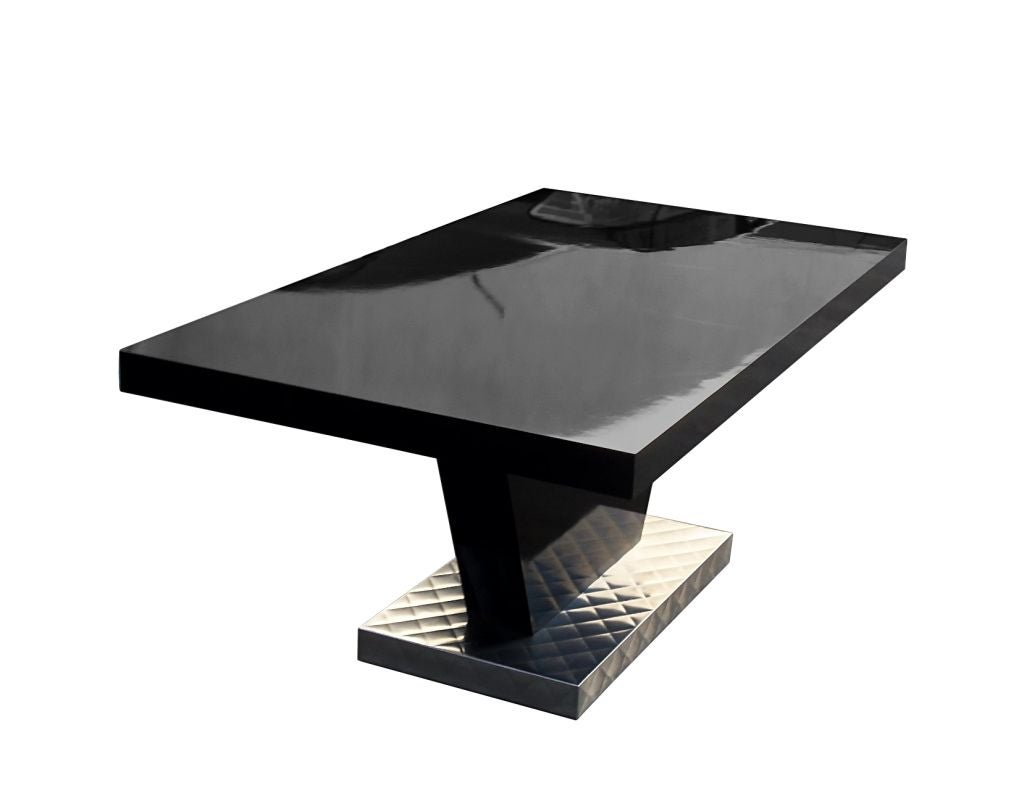 Dining Table Black Lacquer Dining Table