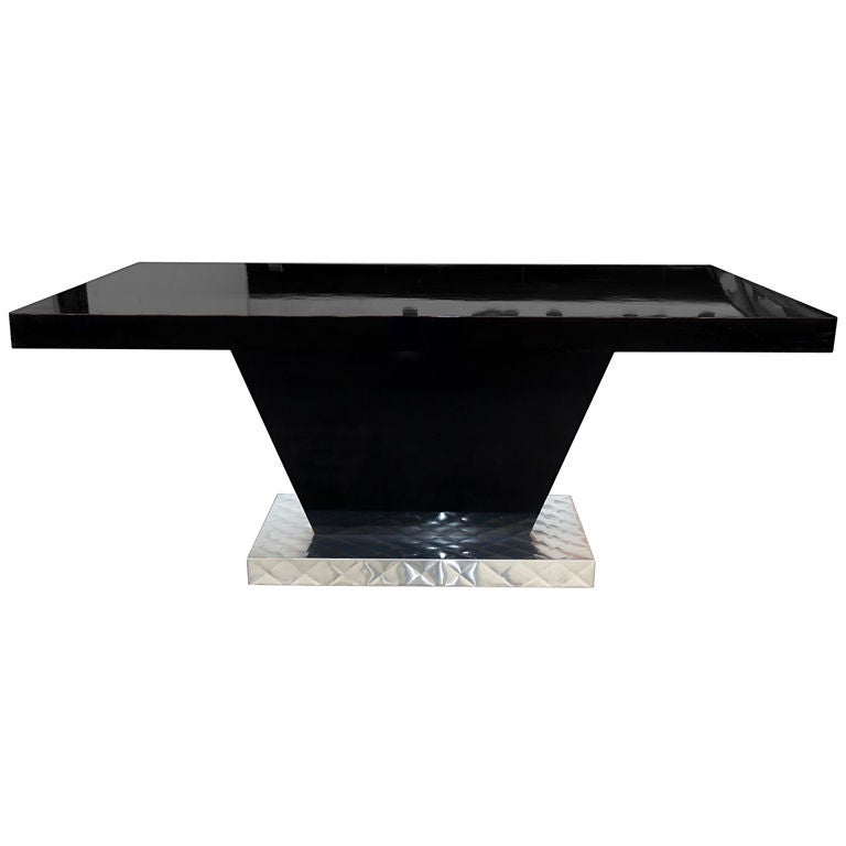 black lacquer dining table from a paul frankl project at 1stdibs black lacquer dining room