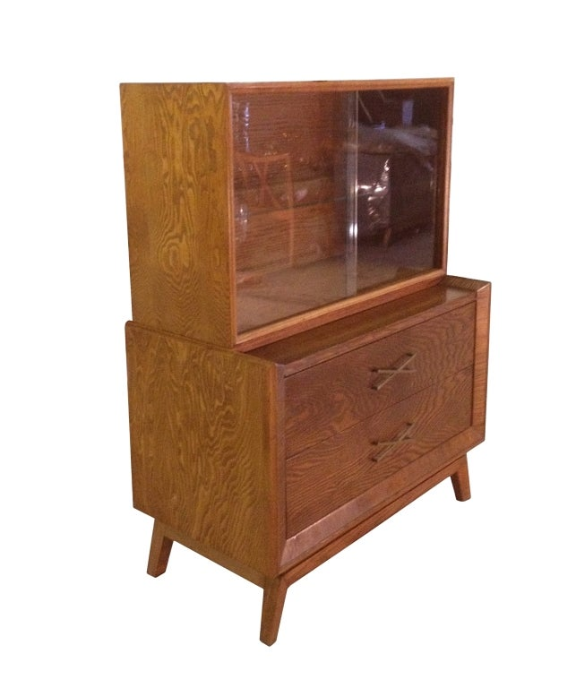 Paul Frankl Chest Of Drawers With Bookcase At 1stdibs