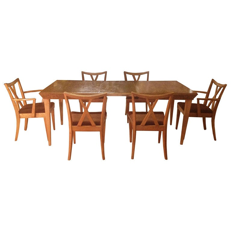 Paul Frankl Dining Suite Includes an Expandable Table with  : XXX881713289025271 from www.1stdibs.com size 768 x 768 jpeg 39kB