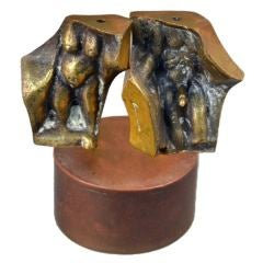 Miniature Erotica Bronze Sculpture by Domenico Calabrone