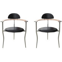 Fantastic set of 2 Architectural Chairs by Arrben Italy