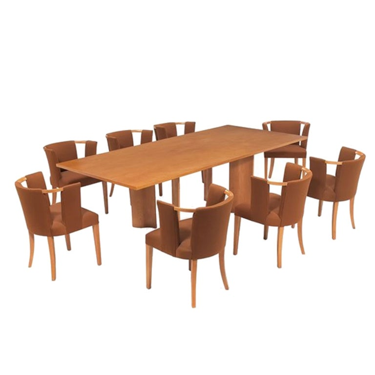Eliel Saarinen Dining Table And 10 Chairs For Johnson At