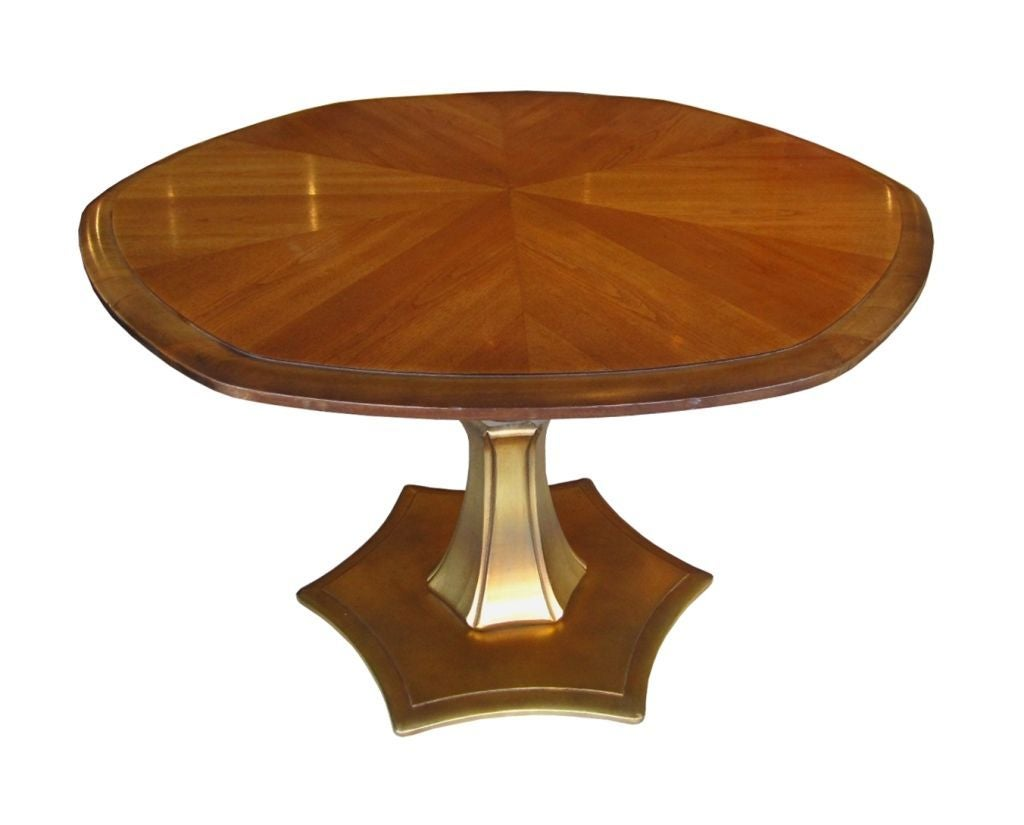 Adjustable Mahogany And Gold Coffee Or Dining Table At 1stdibs