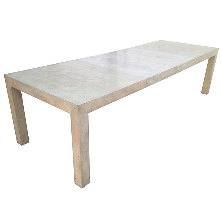 Expandable Burlwood Parsons Dining Table by Milo Baughman  : XXX881713377308561 from 1stdibs.com size 768 x 768 jpeg 25kB