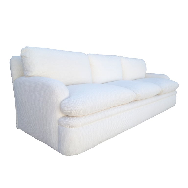 custom designed 3 seater sofa by a rudin at 1stdibs
