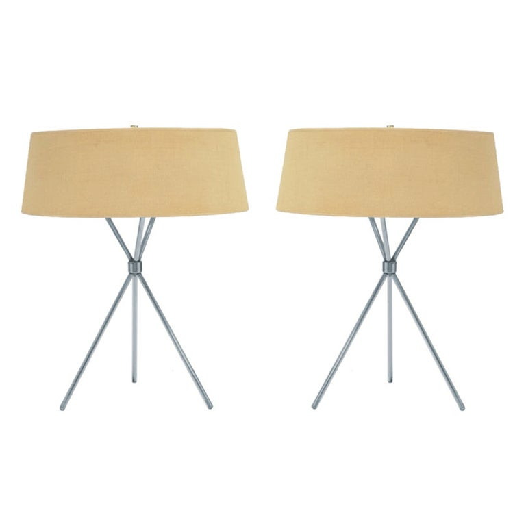 pair of tripod table lamps by for hansen 1