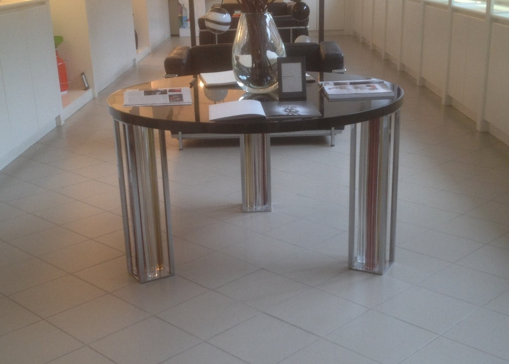 Mid-Century Modern Murano Glass and Chrome Dining Table by Rodolfo Dordoni for Venini For Sale