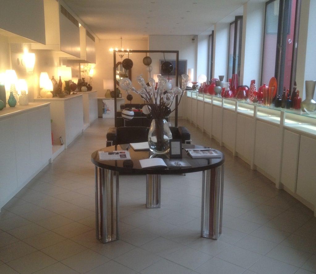 Italian Murano Glass and Chrome Dining Table by Rodolfo Dordoni for Venini For Sale