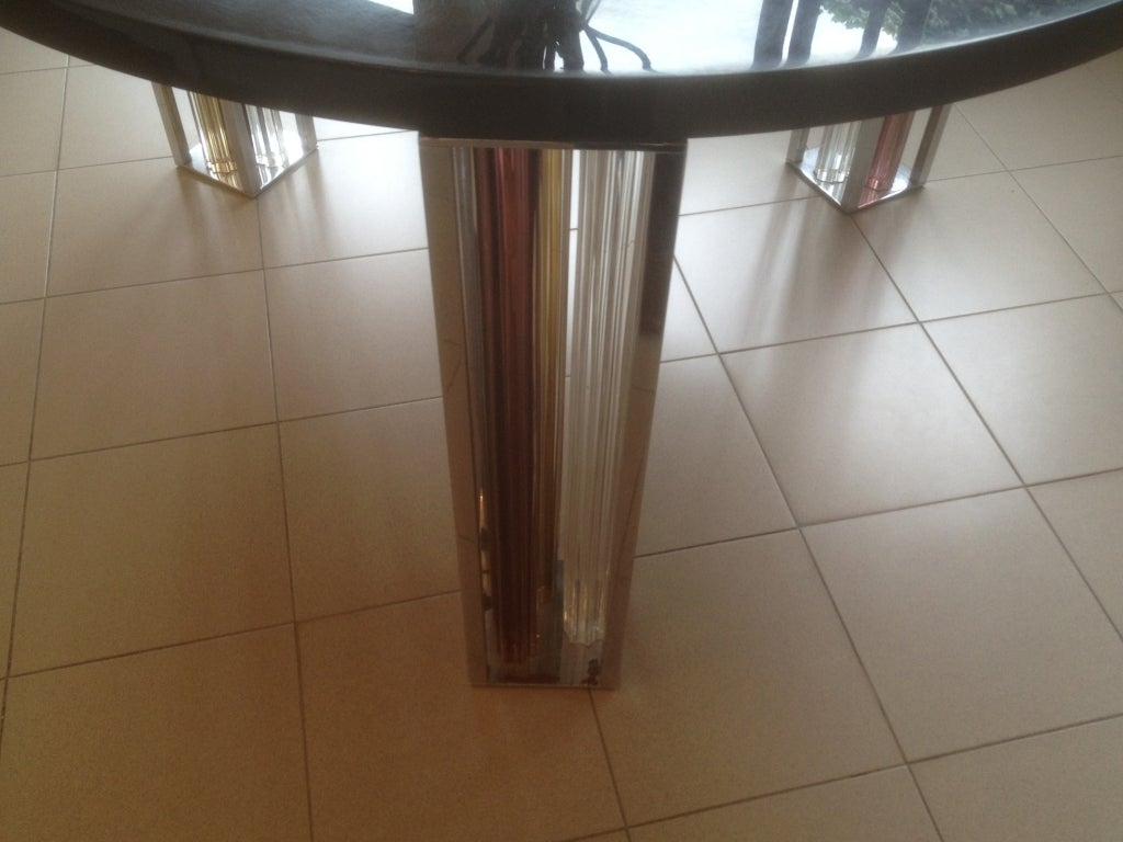 Late 20th Century Murano Glass and Chrome Dining Table by Rodolfo Dordoni for Venini For Sale