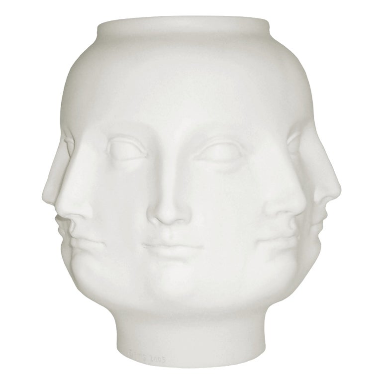 Piero Fornasetti Style Ceramic Multi Face Art Vase At 1stdibs
