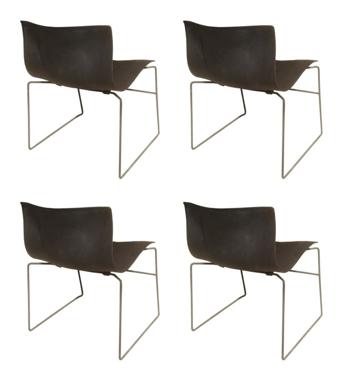 Set Of Four Handkerchief Chairs By Massimo Vignelli For Knoll For Sale At 1stdibs