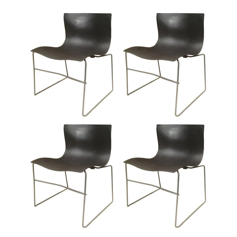 Set Of Four Handkerchief Chairs By Massimo Vignelli For Knoll At 1stdibs