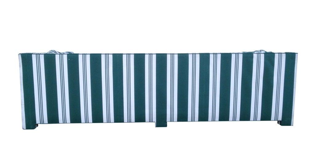 John Widdicomb Sofa Upholstered in Striped Sunbrella Fabric 4
