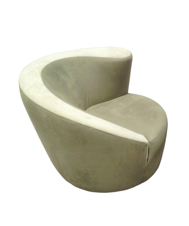 Vladimir Kagan Nautilus Chair In Sage Green Microfiber 1