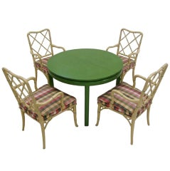 1960'S Bamboo Chairs & Table by Louis G Sherman
