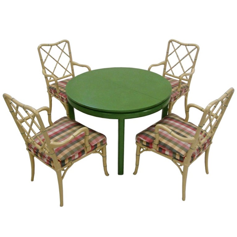1960'S Bamboo Chairs And Table By Louis G Sherman At 1stdibs