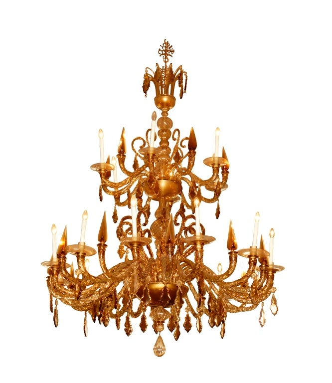 One Of A Kind Crystal Chandelier From The Salviati Museum