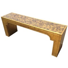Phyllis Morris Console Table in Gold Leaf and Oil Drop Finish
