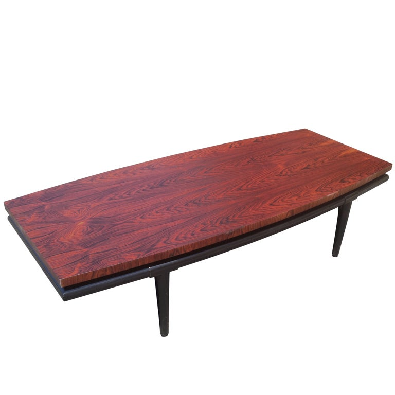 Rosewood Coffee Table by Maurice Bailey for Monteverdi-Young For Sale